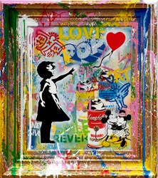 Balloon Girl by Mr. Brainwash - Original sized 30x33 inches. Available from Whitewall Galleries